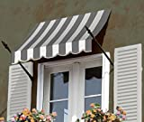 Awntech 4-Feet Charleston Window/Entry Awning, 31 by 24-Inch, Brown