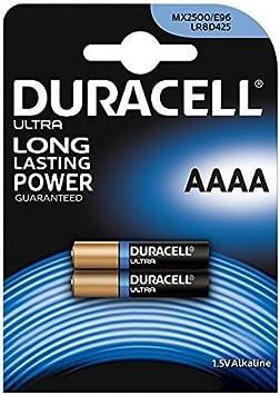 Duracell Specialty, Pilas alcalinas AAAA, Pack 2 baterías: Amazon ...