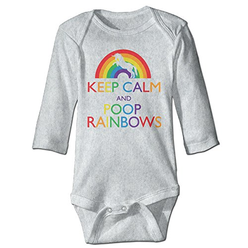 ASHIN Keep Clam And Poop Rainbows For 6-24 Months Baby Romper Bodysuit 12 Months (Adam Gomez Costume)