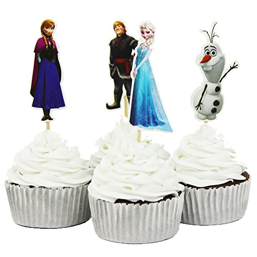 BETOP-HOUSE-Set-of-24-Pieces-Frozen-Cake-Cupcake-Decorative-Cupcake-Topper-for-Kids-Birthday-Party-Themed-Party