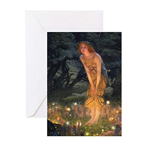 CafePress Midsummers Eve Fairy Dance Greeting Card, Note Card, Birthday Card, Blank Inside Matte -