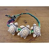 Rasta Turtle Alligator Clip Hemp Bracelet, Anklet, Choker, or Necklace Men's or Women's - Customize Your Size