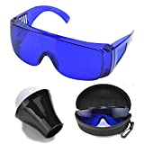 Golf Ball Finding Glasses – Golfball Finder Blue Lens Sunglasses and Putter Golf Ball Pick up Finder Retriever Grabber Suction Cup Bundle. The Perfect Golf Ball Retrievers Locating accessories kit