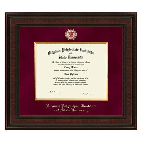 M. LA HART Virginia Tech Bachelor's Excelsior Diploma Frame