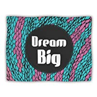 "Kess InHouse Pom Graphic Design ""Dream Big"" Blue Purple Pet Dog Blanket, 60 by 50-Inch"