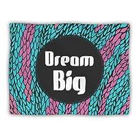 "Kess InHouse Pom Graphic Design ""Dream Big"" Blue Purple Pet Dog Blanket, 60 by 50-Inch"