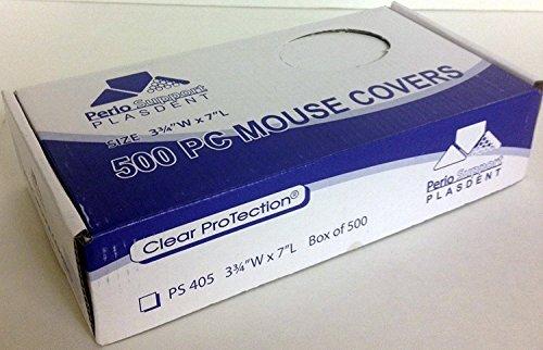 Plasdent PS405 Mouse Cover 3 3/4'' x 7'' 500/Box