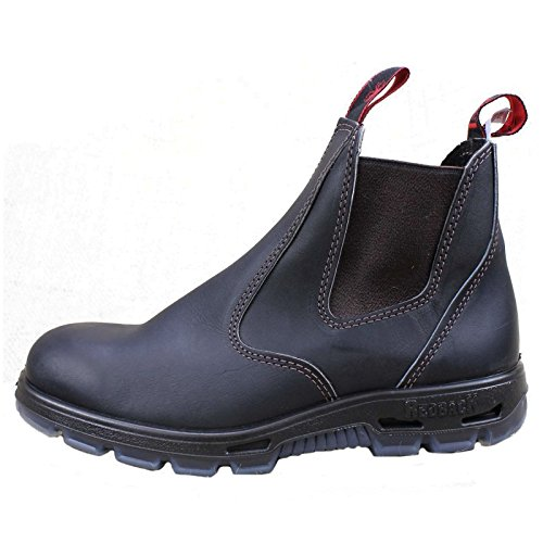 Image of RedbacK Men's Bobcat UBOK Dark Brown Elastic Sided Soft Toe Leather Work Boot