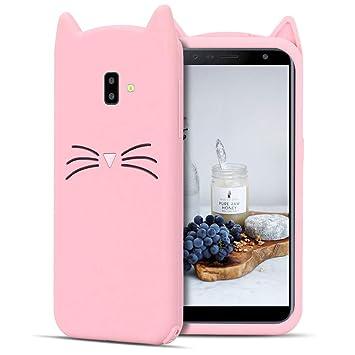 CaseLover ES Funda para Samsung J6 Plus 2018, 3D Linda Gato Carcasa Suave TPU Silicona Protectora Caso Flexible Goma Gel Dibujos Animados Parachoques ...