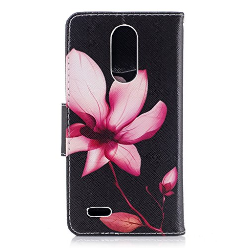 Trumpshop Smartphone Carcasa Funda Protección para LG K7 / LG K8 + Gongfu Panda + PU Cuero Caja Protector Billetera con Cierre magnético Choque Absorción Lirio