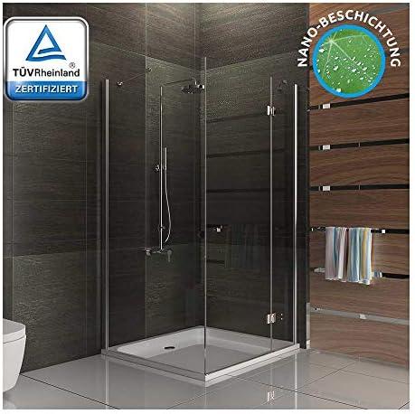 Vidrio de seguridad de ducha mampara de ducha con cuadrado 90 x 100 x 195: Amazon.es: Bricolaje y herramientas