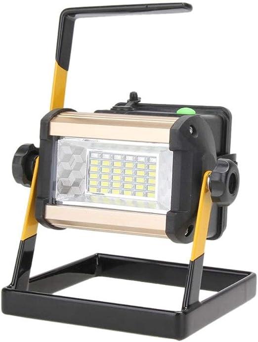 Proyector 50W 2400LM Reflector LED recargable Reflector portátil ...