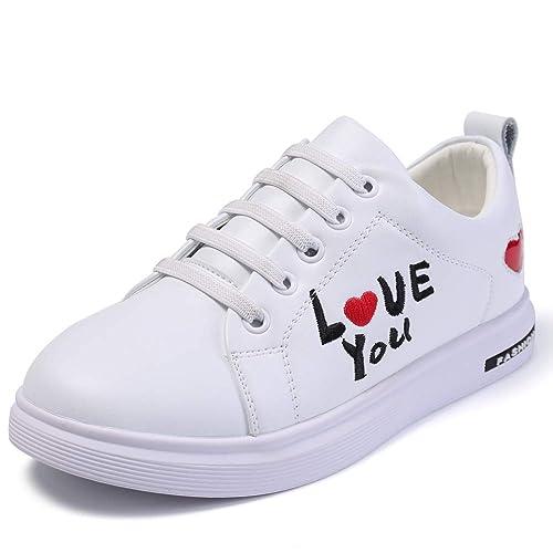 9cd00a79c9c Zapatillas de Deporte Blanco para Las niñas, Harpia Zapatos de Moda única  Suave Correas de