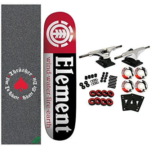 "Element x Thrasher Skateboard Complete Section 7.75"" Mob Griptape"