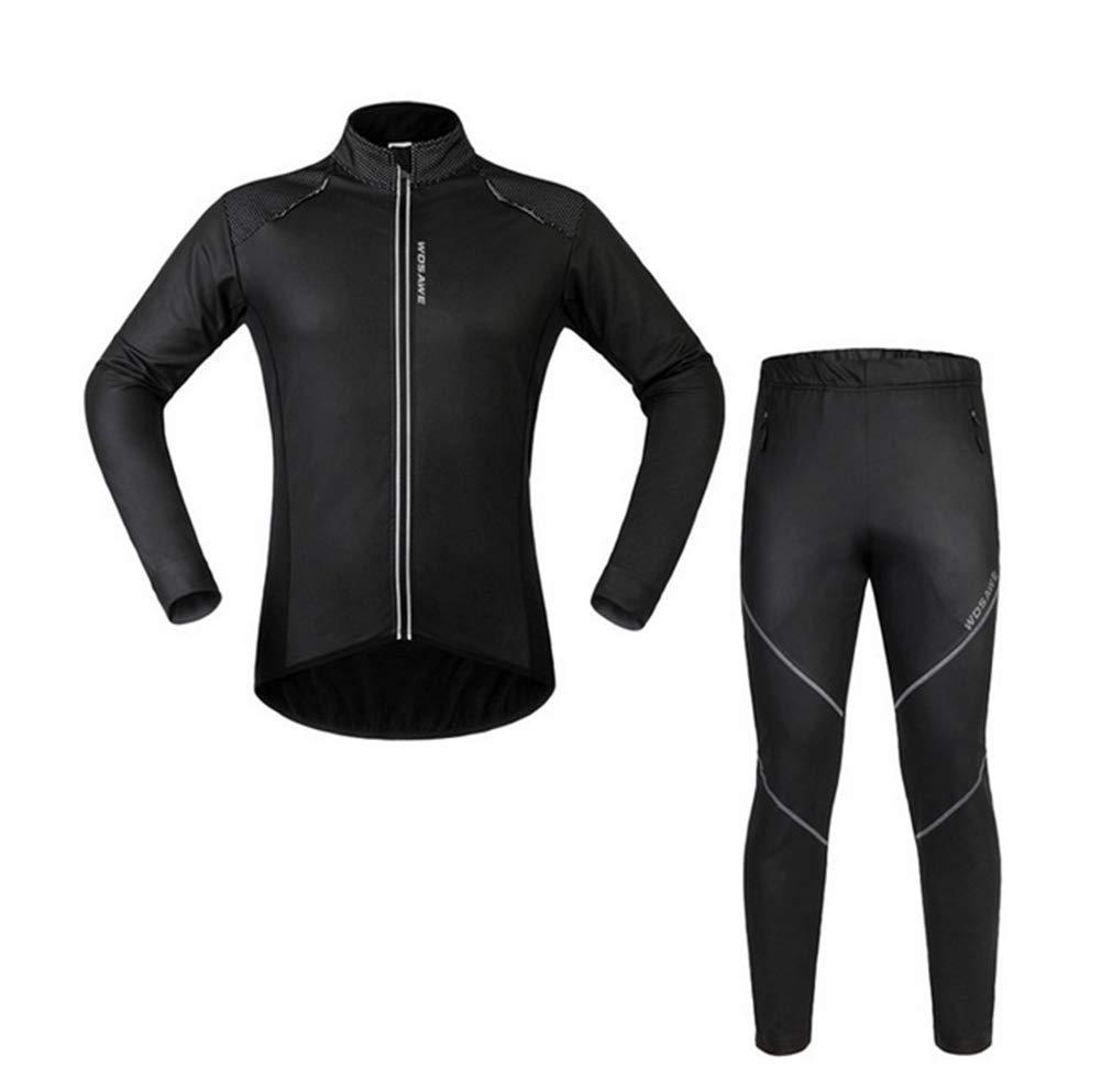 Liuhoue Windproof Thermal Langarm-Anzug Reiten,Top + Hose Sport Anzug