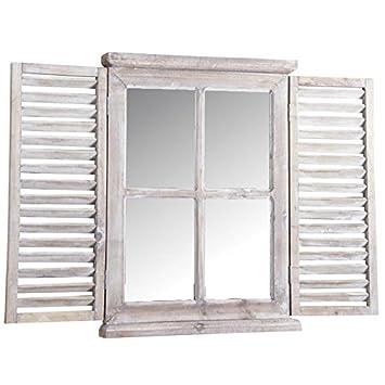 Aubry Gaspard Miroir Fenêtre En Bois Teinté Amazonfr Cuisine Maison