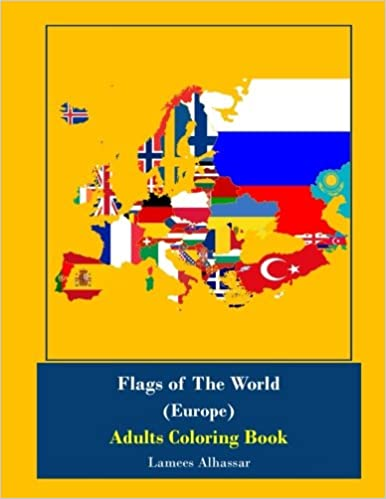 Amazon Com Flags Of The World Europe Adults Coloring Book