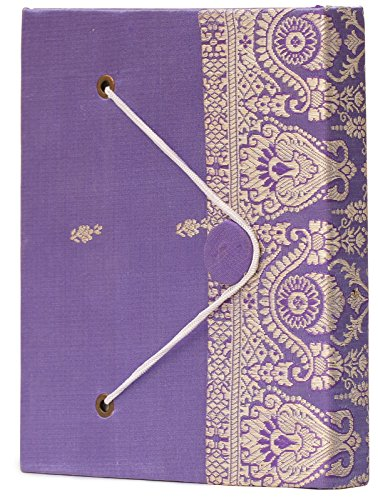 PRIME DEALS – 6 Writing Poetry Sari Journal Personal Notebook Sketchbook Scrapbook Travel Diary Handmade Blank Paper Small Thread Closure – Unique Gi…