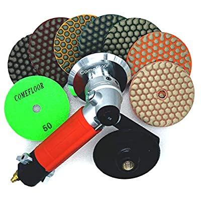 """Rubber Backing Pad Black Rigid Backer Pads for Diamond Polishing Pads 5/8""""-11 Hook and Loop Backing Pad (4 inch): Industrial & Scientific"""