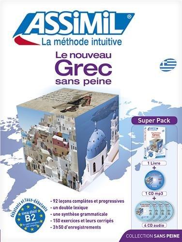 Assimil Le Nouveau Grec Sans Peine (Book plus 4 CD plus 1 CD MP3) (Greek Edition)