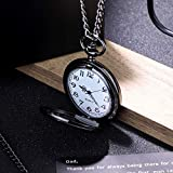 sailimue Classic Smooth Vintage Quartz Pocket Watch