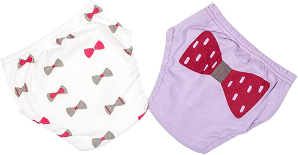 Happy childhood Baby Boys 1-3 Years Girls 6 Layer Toilet Training Pants Elastic Potty Underwear Shorts Pack 2