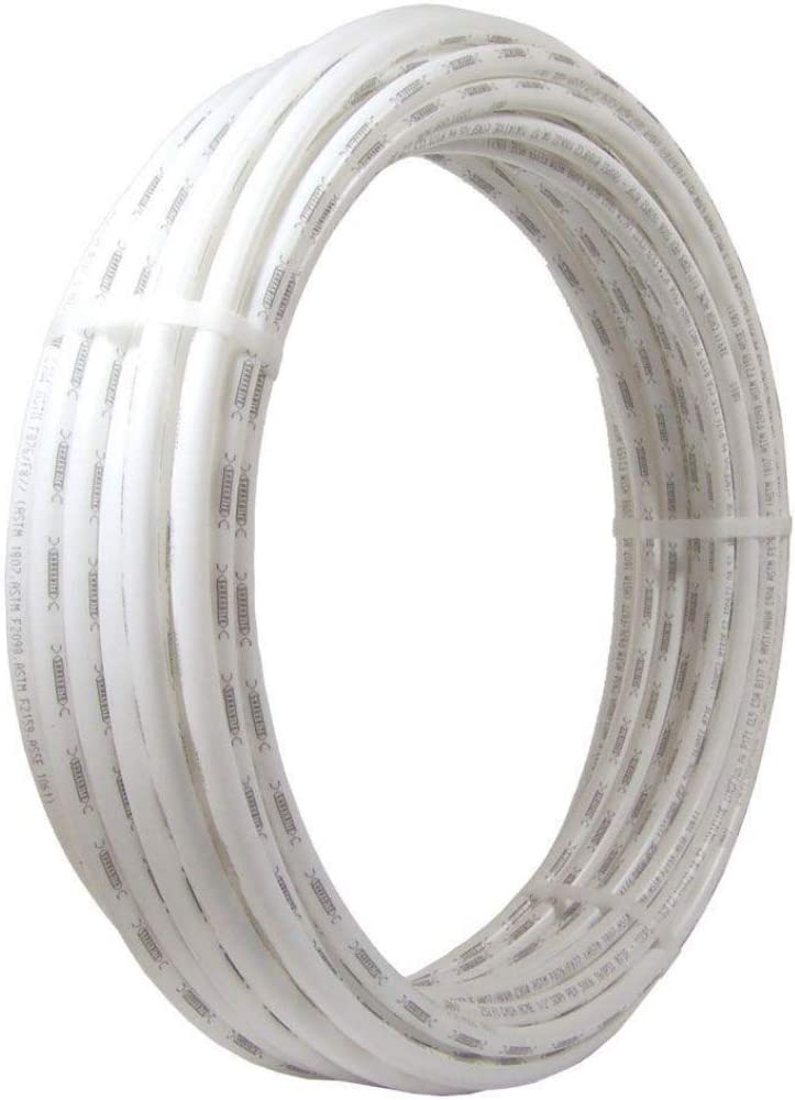 SharkBite U855W100 PEX Pipe 3/8 Inch, White, Flexible Water Pipe Tubing, Potable Water, Push-to-Connect Plumbing Fittings, 100 Feet Coil of Piping