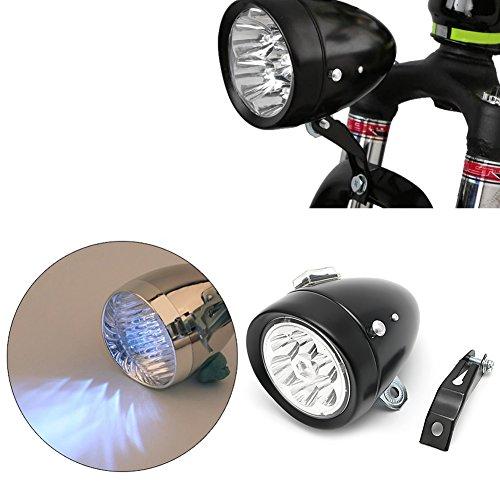 NNDA CO Retro Bicycle Bike Front Light Lamp 7 LED Fixie Headlight Headlamp with Bracket by NNDA CO (Image #2)