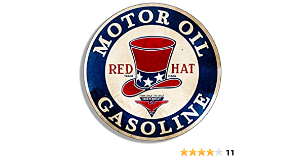 Red 5 Five Star Sticker for a Vintage Petrol Pump