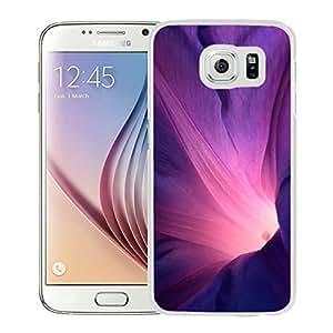 Abstract Purple Flower Lockscreen (2) Hard Plastic Samsung Galaxy S6 G9200 Protective Phone Case