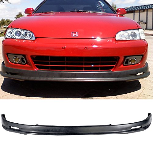 92-95 Honda Civic 2/3 Door Mug Style Add-On Front Bumper Lip Spoiler Urethane ()