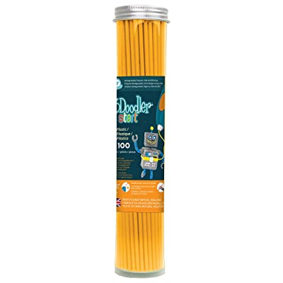 3Doodler Start 3D Printing Filament Refill Tube (X100 Strands, Over 830'. of Extruded Plastic!) - Tangerine Tang, Compatible with Start 3D Pen for Kids: Toys & Games