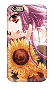 Ultra Slim Fit Hard Ortiz Bland Case Cover Specially Made For Iphone 6- Anime Girls Flowers