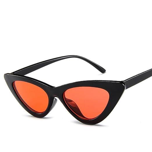 11b318aa5f Cat Eye Sunglasses Vintage Mod Style Retro Kurt Cobain Sunglasses (Black  Orange)