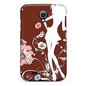 Hot Style Protective Case Cover For Galaxys4(flower Girl)