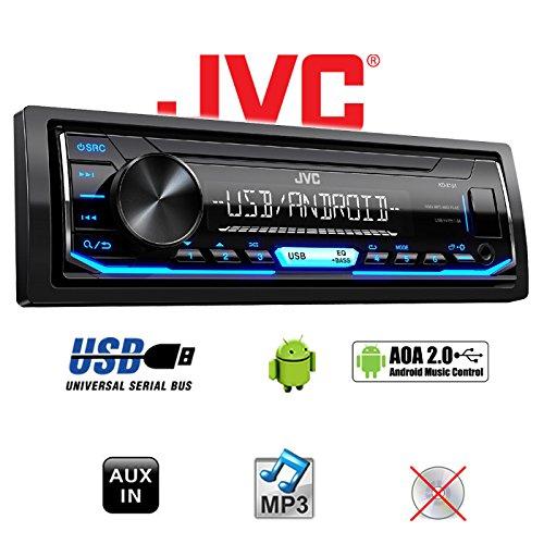 Autoradio Radio JVC KD-X151 Android 4x50Watt USB Einbauset Einbauzubeh/ör MP3 Renault Twingo 1