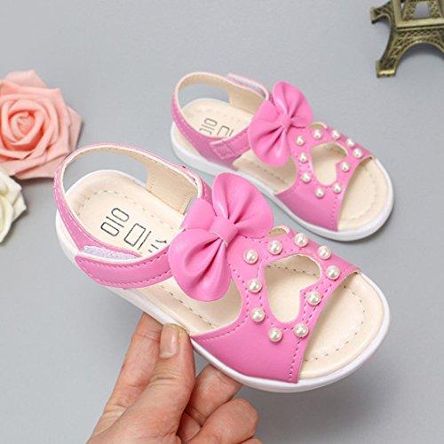 0d28f80cc PAOLIAN Verano Zapatos Para Bebes Niña Playa Antideslizante Hueco Perla y  Pajarita Sandalias de Vestir Zapatos de Niñito Suela ...
