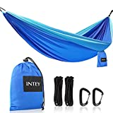 INTEY double lightweight hammock has everything you will need to be able to relax during your camping trip. Fat capacity: Be Aware: Sorry that there is a print mistake on manual, it can carry up to a fill of 660 lbs(wrong weight capacity on the user ...
