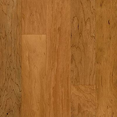 "Armstrong ESP5220 Performance Plus Engineered Wide Plank Cherry Hardwood Flooring, 3/8"" x 5"", Sugared Honey"