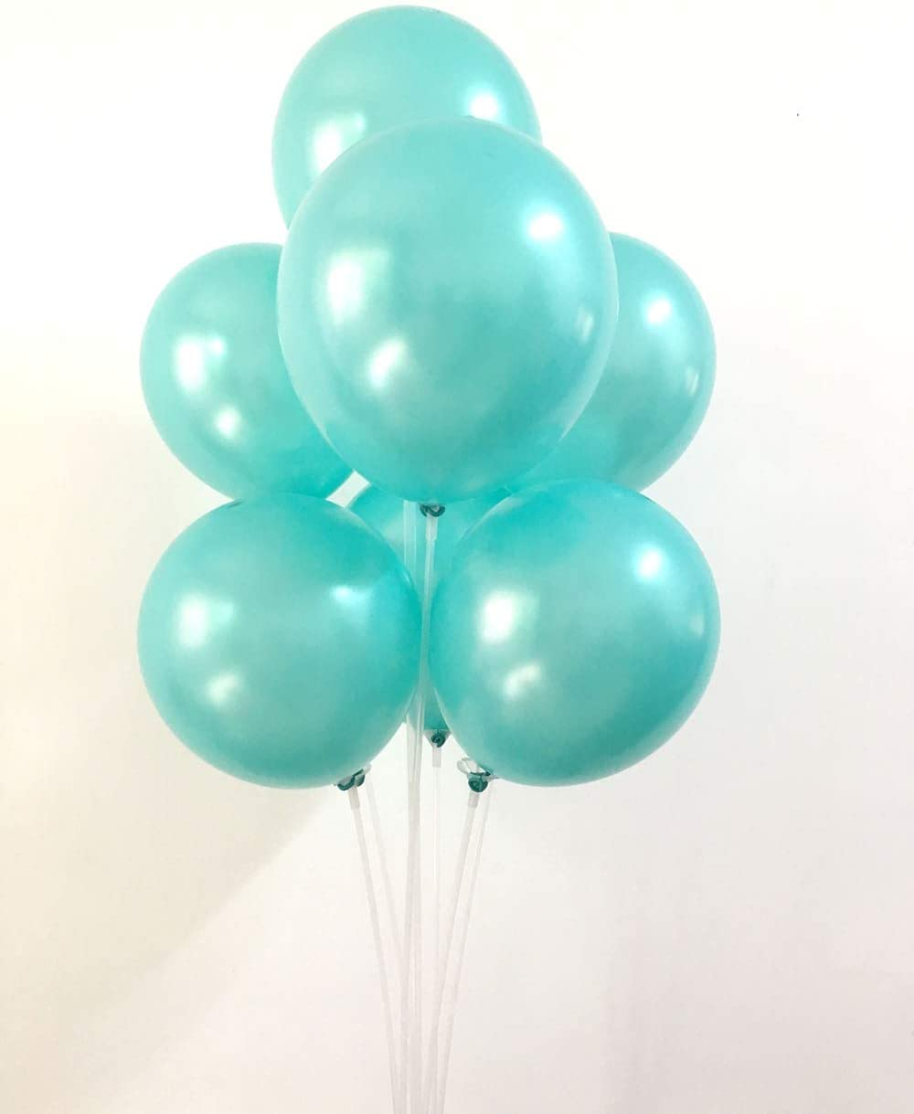12Inch Quality Latex Balloon Party Decoration for Birthday and Events Celebration yuqinBB (Tiffany Blue)