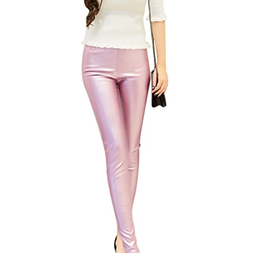 Zhhlaixing mujeres Fashion Thin PU Leather Trousers Pencil Pants Skinny Leggings