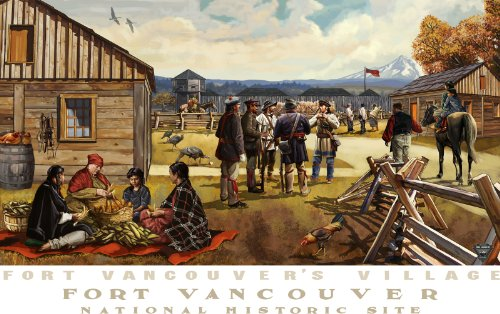 Northwest Art Mall Fort Vancouver Village Unframed Poster Print by Paul A. Lanquist, 11-Inch by - Vancouver Mall In