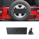 Highitem Metal Car Exterior Decoration Rear Spare Tire License Plate Bracket Holder Fit For Jeep Wrangler 2007-2017