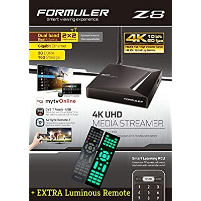 FORMULER Android Dual Band Gigabit LAN 2GB RAM 16GB ROM Extra Luminous Remote Free Charger