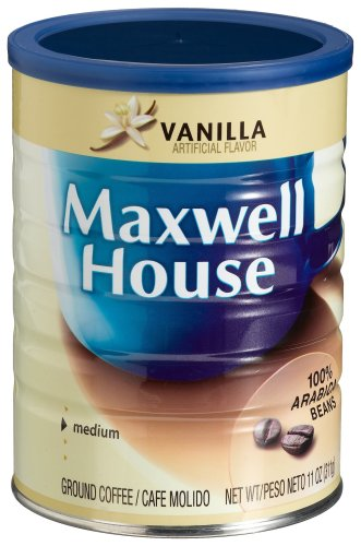 Maxwell House Vanilla Ground Coffee, 11-Ounce Cans (Pack of 12) by MAXWELL HOUSE