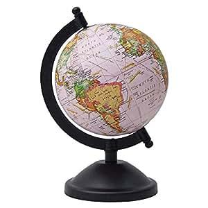 World Ocean Globe Desktop Decorative Rotating Geography Earth Table Decor
