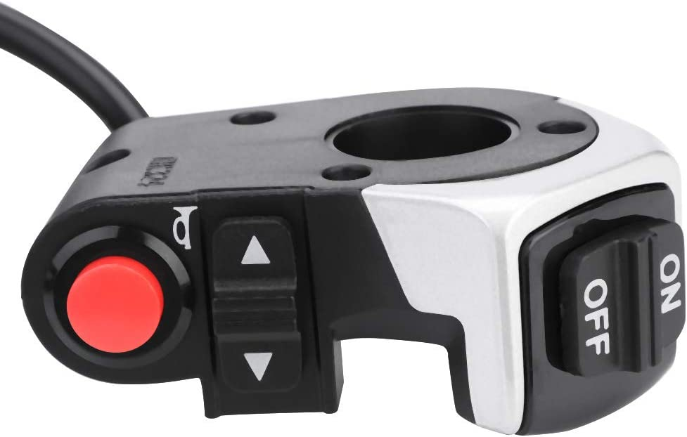 Bnineteenteam Bot/ón de Encendido//Apagado Universal del Manillar de la E-Bici bot/ón de Interruptor de la bocina del Faro Delantero para la E-Bici de la Motocicleta
