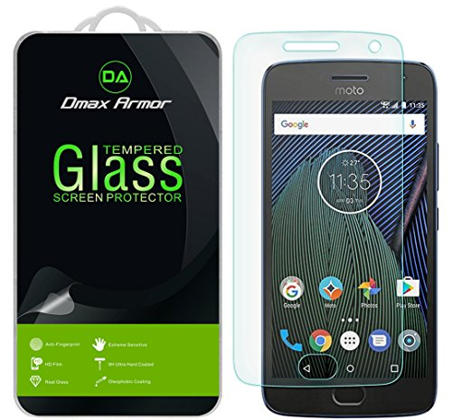 [2-Pack] Dmax Armor for Motorola Moto G5 Plus / Moto G Plus (5th Generation) Screen Protector, [Tempered Glass] 0.3mm 9H Hardness, Anti-Scratch, Anti-Fingerprint, Bubble Free, Ultra-clear