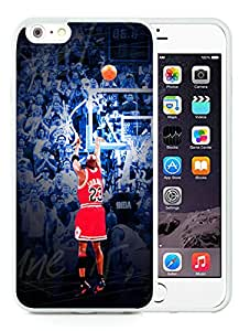 Fashion iPhone 6 Plus Case,Michael Jordan White iPhone 6S Plus 5.5 inches Screen TPU Cover Case Luxury and Cool Design