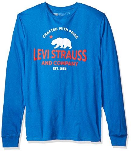 Levi's Men's Chlorophyll Long Sleeve T-Shirt, Vivid Blue, (Levis Long Sleeve Tee)